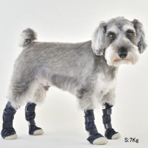 犬用 靴 雨 レインシューズ DOGブーツ 4本セット S   メール便で送料無料|minnaegao