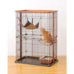 猫用サークル室内 ボンビ ウッドワンサークル キャット 2段タイプ送料無料北海道・沖縄・離島除く 返品不可 同梱不可|minnaegao