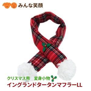 メール便で送料無料 クリスマス 変身マフラー イングランドタータンマフラー LL|minnaegao