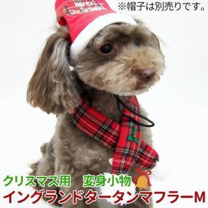 メール便で送料無料 クリスマス 変身マフラー イングランドタータンマフラー M|minnaegao