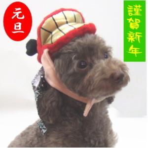 お正月 犬猫用 獅子舞帽子 LL p3136|minnaegao