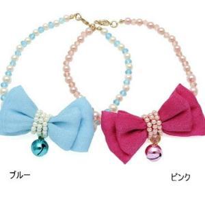 メール便で送料無料 リボンカーニバル・ ネックレス 猫用|minnaegao