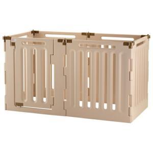 サークル ゲート 仕切り リッチェル 犬用 3WAY6面サークル ドア付き 6面90H 室内外兼用 minnaegao