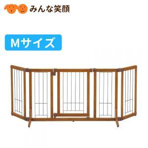 リッチェル ペット用木製おくだけドア付ゲート M ゲート 仕切り|minnaegao