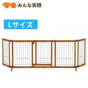 リッチェル ペット用木製おくだけドア付ゲート L ゲート 仕切り|minnaegao