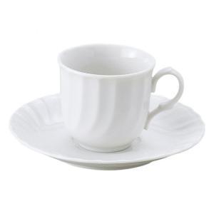 キャロルホワイト コーヒー碗皿 洋食器 カップ&ソーサー コーヒー 業務用 約7.6cm|minnano-souko
