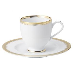 ゴールドリッチ ウルトラホワイト 高台コーヒー碗皿 洋食器 カップ&ソーサー コーヒー 業務用 約10.4cm|minnano-souko