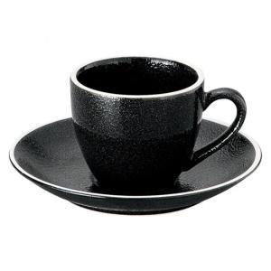 ホルス コーヒーカップ 黒 カップ&ソーサー 洋食器 カップ&ソーサー コーヒー 業務用 約8.2cm|minnano-souko