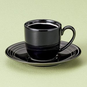 ホワイトラインコーヒー碗皿 和食器 コーヒー碗・受皿 業務用 約9.8cm|minnano-souko