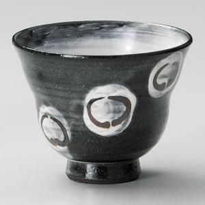 黒土丸紋陶碗 和食器 ロックカップ 業務用 約10.5×8.2cm 焼酎ロック 梅酒ロック 杏仁豆腐|minnano-souko