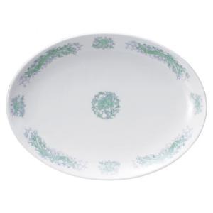 翔花鳳 14吋プラター 皿 プレート 中華食器 プラター 楕円皿 30cm以上 業務用 日本製 磁器...