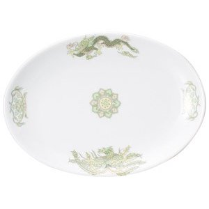 ・サイズ:23.6×16.4×2.3cm  ・重量:485g  【中華食器/プラター(楕円皿)/プラ...