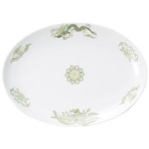 ・サイズ:26.5×19.1×2.7cm  ・重量:524g  【中華食器/プラター(楕円皿)/プラ...
