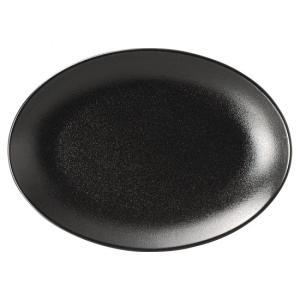 宮天目 9吋プラター 中華食器 プラター 楕円皿 20cm〜30cm 業務用 日本製 磁器 黒 約2...