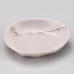 ピンク小花三角小皿 和食器 小皿 業務用 約9.5cm