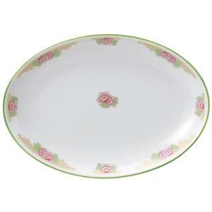・サイズ:21.4×15.2×2.3cm  ・重量:320g  【中華食器/プラター(楕円皿)/プラ...