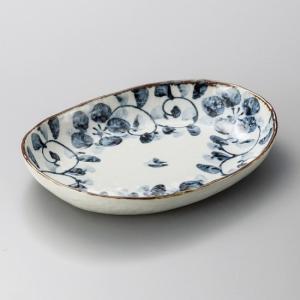 たこ唐草楕円皿 和食器 楕円皿 業務用 約25.3cm