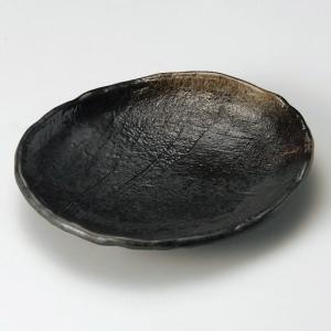 琥珀8.5号とんかつ皿 萬古焼 和食器 楕円皿 業務用 約25.5cm