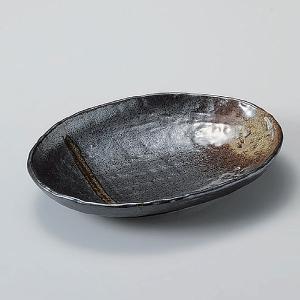 ・サイズ:22.3×16.5×3.8cm  【和食器/皿皿/多用皿・変形皿/楕円皿 】【カラー:ブラ...