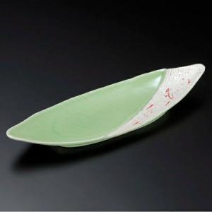 ・サイズ:33×10.5×4cm ・重量:490g  【和食器/皿皿/付出皿】【カラー:グリーン系】...