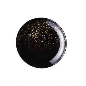 ラフィヌモン プレート21 ブラック ガラス プレート 丸 業務用 約210mm|minnano-souko