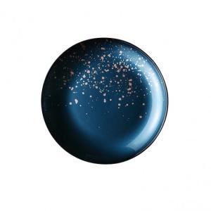 ラフィヌモン プレート21 ティールブルー ガラス プレート 丸 業務用 約210mm|minnano-souko