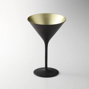 オリンピック カクテル マットブラック ゴールド ガラス カクテル 業務用 約116mm