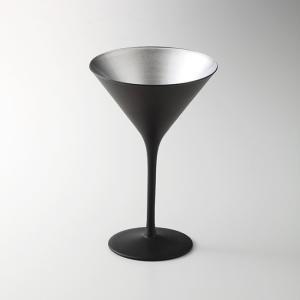 オリンピック カクテル マットブラック シルバー ガラス カクテル 業務用 約116mm