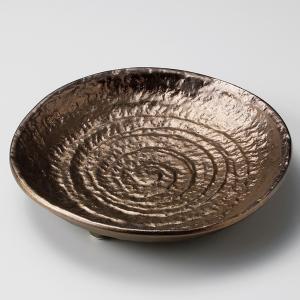 深皿 カレー パスタ おしゃれ めん 浅鉢 ボウル 金釉 ゴールド 21cm 食器 陶器|minopota