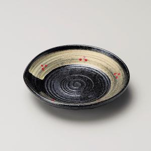 お皿 プレート おしゃれ 丸皿 金彩刷毛 片口皿 14.1cm 取り皿 盛皿 食器 陶器 小皿|minopota