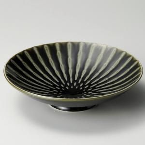 鉢 ボウル 大鉢 盛鉢 おしゃれ 丸鉢 竹林織部 高台 28.3cm 食器 陶器 ボール 丼|minopota