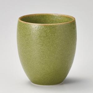 フリーカップ コップ 酒器 おしゃれ オリーブフリーカップ L 400cc 食器 陶器 タンブラー グラス|minopota