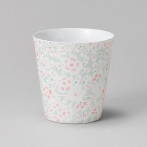 フリーカップ コップ 酒器 おしゃれ うすかる 桜ヒワ カップ 390cc 食器 陶器 タンブラー グラス|minopota