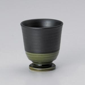 フリーカップ コップ 酒器 おしゃれ 織部 ゴブレット 110cc 食器 陶器 タンブラー グラス|minopota