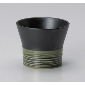 フリーカップ コップ 酒器 おしゃれ リップル 織部カップ 190cc 食器 陶器 タンブラー グラス|minopota