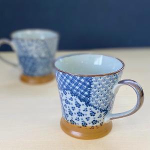 マグカップ おしゃれ カフェ パッチワーク ラッパ マグ 250cc コーヒー 食器 陶器 minopota