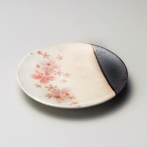 お皿 プレート おしゃれ 丸皿 粉引舞桜 15cm 取り皿 盛皿 食器 陶器 小皿 minopota