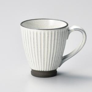 マグカップ おしゃれ カフェ 黒土化粧しのぎマグ ホワイト 250cc 白 minopota