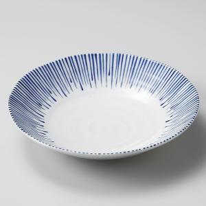 深皿 カレー パスタ おしゃれ めん 浅鉢 ボウル しずく十草 23.3cm 食器 陶器|minopota
