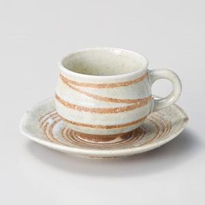 コーヒーカップ ソーサー おしゃれ 珈琲 白渦 コーヒー碗皿セット ホワイト minopota