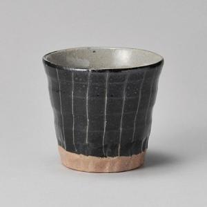 フリーカップ コップ 酒器 おしゃれ 黒十草 焼酎カップ 320cc 食器 陶器 タンブラー グラス|minopota