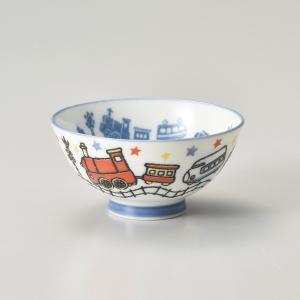 飯碗 茶碗 おしゃれ ごはん 電車 子供 キッズ 10.5cm ご飯 めし碗 丼 どんぶり ボウル 食器 陶器|minopota