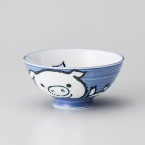 飯碗 茶碗 おしゃれ ごはん こぶた 子供 キッズ 11.2cm ご飯 めし碗 丼 どんぶり ボウル 食器 陶器|minopota