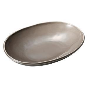 深皿 カレー パスタ おしゃれ めん 浅鉢 ボウル ベージュ 楕円鉢(M) 24.6cm 食器 陶器|minopota