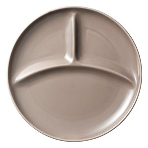 ランチプレート お皿 仕切り カフェ ベージュ 三つ仕切 24.9cm ワンプレート キッズ 食器 陶器|minopota