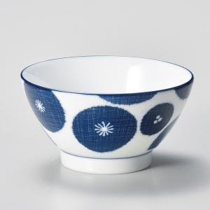 飯碗 茶碗 おしゃれ ごはん 藍花 ブルー 12.3cm ご飯 めし碗 丼 どんぶり ボウル 食器 陶器|minopota