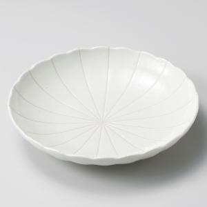 深皿 カレー パスタ おしゃれ めん 浅鉢 ボウル 粉引十草 23cm 食器 陶器|minopota