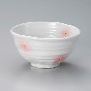 丼 どんぶり ボウル おしゃれ 淡雪ピンク吹 小花 14cm ラーメン うどん 麺 盛鉢 ボール 食器 陶器|minopota
