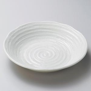 深皿 カレー パスタ おしゃれ めん 浅鉢 ボウル 吉祥粉引 23.4cm 食器 陶器|minopota