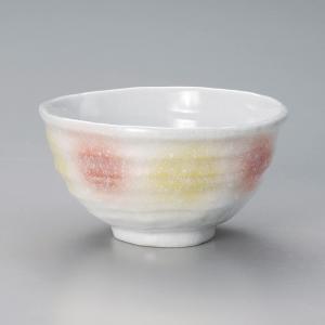 丼 どんぶり ボウル おしゃれ 橙黄 変形中丼 14.4cm ラーメン うどん 麺 盛鉢 ボール 食器 陶器|minopota
